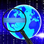 Search Internet Means World Wide Web And Analysis Stock Illustration