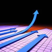 Success Graph Meaning Financial Report And Upward Stock Illustration