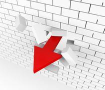 Progress Breakthrough Representing Advance Progressing And Arrow Stock Illustration