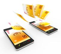 Transfer Euros Online Representing World Wide Web And Website Stock Illustration