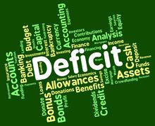 Deficit Word Means Bad Debt And Deficiency Stock Illustration