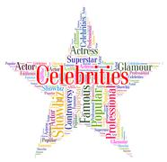 Celebrities Star Means Notorious Renowned And Celebrity Stock Illustration