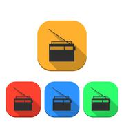 The radio icon, vector illustration. Stock Illustration