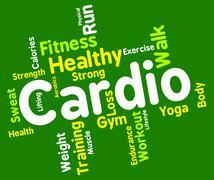 Cardio Word Indicates Get Fit And Aerobics Stock Illustration