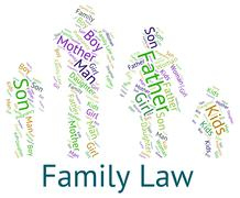 Family Law Shows Blood Relative And Court Stock Illustration