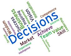 Decision Words Indicates Choice Choices And Deciding Stock Illustration