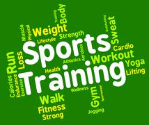 Sports Training Represents Working Out And Exercise Stock Illustration