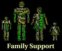 Family Support Indicates Blood Relative And Families Stock Illustration