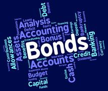Bonds Word Represents In Debt And Loan Stock Illustration