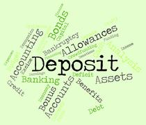 Deposit Word Means Part Payment And Advance Stock Illustration