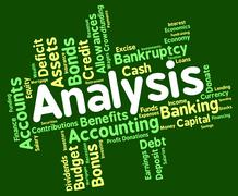 Analysis Word Shows Data Analytics And Analyse Stock Illustration