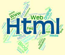 Html Word Indicates World Wide Web And Code Stock Illustration