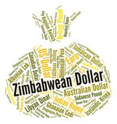 Zimbabwean Dollar Shows Forex Trading And Currency Stock Illustration