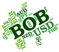 Bob Currency Means Bolivia Boliviano And Broker Stock Illustration