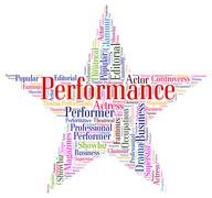 Performance Star Means Theatrical Theaters And Entertainment Stock Illustration