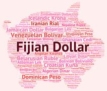 Fijian Dollar Shows Forex Trading And Currencies Stock Illustration