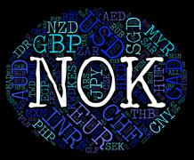 Nok Currency Represents Forex Trading And Exchange Stock Illustration