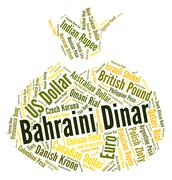 Bahraini Dinar Indicates Currency Exchange And Banknotes Stock Illustration