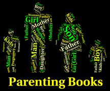 Parenting Books Indicates Mother And Child And Father Stock Illustration