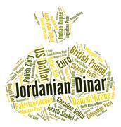 Jordanian Dinar Represents Currency Exchange And Broker Stock Illustration