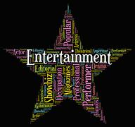 Entertainment Star Indicates Hollywood Movies And Cinemas Stock Illustration