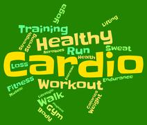 Cardio Word Indicates Get Fit And Athletic Stock Illustration