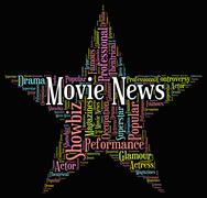Movie News Indicates Hollywood Movies And Entertainment Stock Illustration