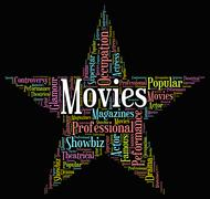 Movies Star Indicates Motion Picture And Film Piirros