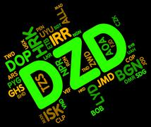 Dzd Currency Indicates Forex Trading And Algeria Stock Illustration