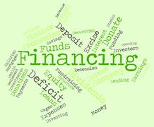 Financing Word Indicates Business Financial And Trading Stock Illustration