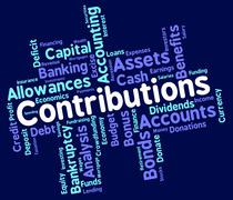 Contributions Word Means Supporter Support And Volunteer Stock Illustration