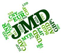 Jmd Currency Indicates Exchange Rate And Broker Stock Illustration