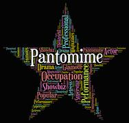 Pantomime Star Indicates Words Play And Melodrama Stock Illustration