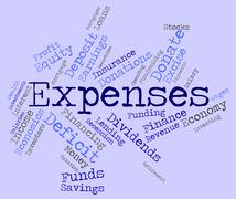 Expenses Word Shows Expenditure Accounting And Business Stock Illustration