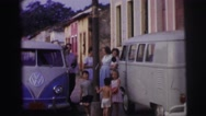 1967: family is seen going on trip with small child BRAZIL Stock Footage