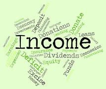 Income Word Represents Wages Salary And Wage Stock Illustration