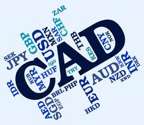 Cad Currency Represents Canadian Dollar And Canada Piirros