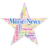 Movie News Represents Hollywood Movies And Cinemas Stock Illustration