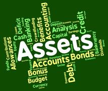Assets Words Means Holdings Property And Estate Stock Illustration