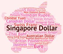 Singapore Dollar Indicates Foreign Exchange And Coinage Piirros