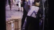 1967: market area beside road area is seen BRAZIL Stock Footage