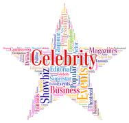 Celebrity Star Means Text Word And Fame Stock Illustration