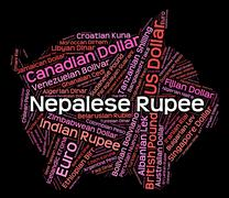 Nepalese Rupee Means Exchange Rate And Foreign Stock Illustration