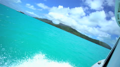Pleasure craft used between the Islands in the luxury vacation resort of Bora Stock Footage