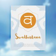 Chakra Svadhisthana icon, ayurvedic symbol, concept of Hinduism, Buddhism Stock Illustration