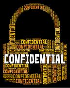 Confidential Lock Indicates Secret Secrecy And Classified Stock Illustration