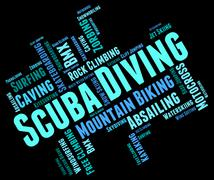 Scuba Diving Means Subaqua Underwater And Undersea Stock Illustration
