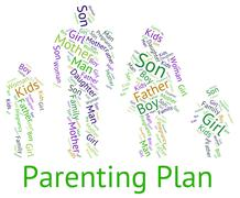 Parenting Plan Represents Mother And Child And Childhood Stock Illustration