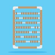 Retro vintage abacus Stock Illustration