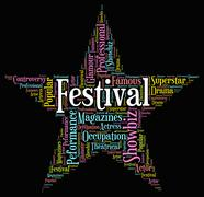 Festival Star Represents Music Entertainment And Gala Stock Illustration